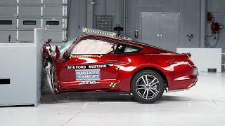 2016 Ford Mustang driver-side small overlap IIHS crash test