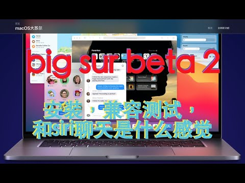 big sur beta 2 / 大苏尔2 / macos11 (20A4300b) 测试及安装问题, 和新siri交流及big sur 兼容性测试; #big sur beta 2 #新siri