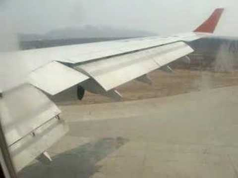Yuzhno International Airport, Sakhalin, Landing in a Llyushin 96 plane