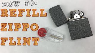 How to Replace Flint in a Zippo Lighter