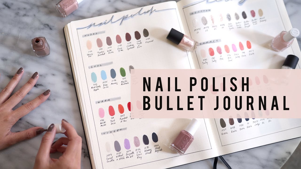 Bullet Journal Ideas Nail Polish Library Collection