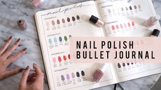Bullet Journal Set Up | Nail Polish Library Collection | ANN LE