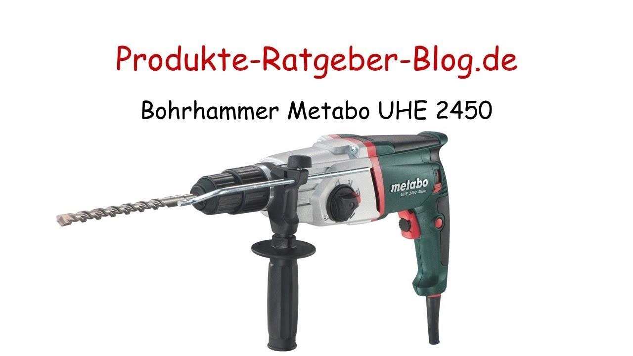 test bohrhammer metabo uhe 2450 - youtube