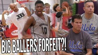 Lavar Ball FORFEITS Playoff Game In Front Of UCLA Coaches! Because REFS! Whole Team WALKS OUT!