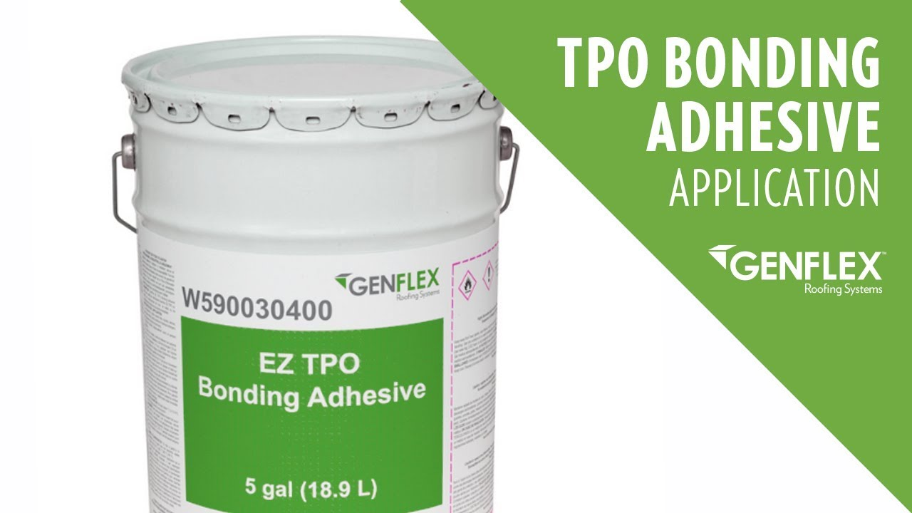 Tpo Bonding Adhesive Application Youtube