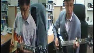"""""""Rhythm of the Rain"""" on guitar"""