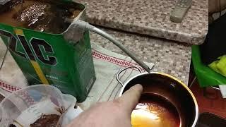 Самодельная дробь (день третий , льем дробь в маляс -патока-меласа свекловичная )