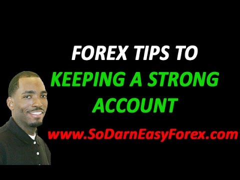 Forex live account tips