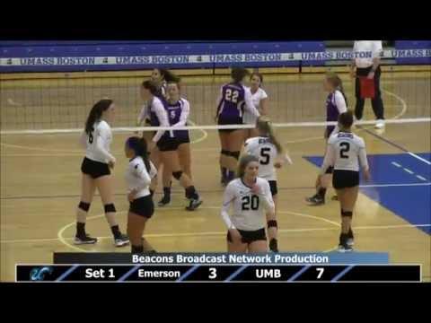 UMass Boston Volleyball vs. Emerson College (10/10/14) Webcast