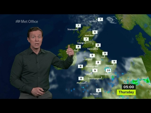 Wednesday afternoon forecast 03/05/2017