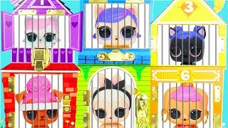 L.O.L. Surprise! Dolls Pets Rescue Wrong Clothes Shimmer Shine House Lil Sisters Transform Unboxed!