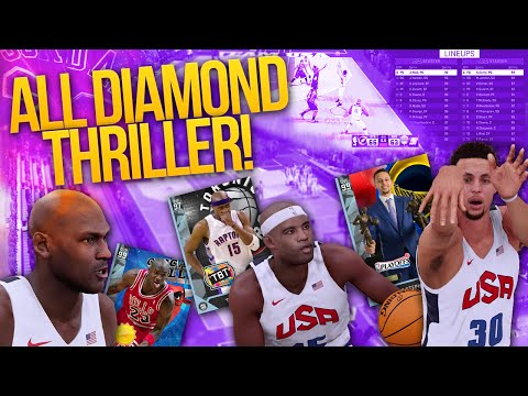 NBA 2K16 My Team ALL DIAMOND SUPER TEAM THRILLER! OMG AT THE BUZZER!