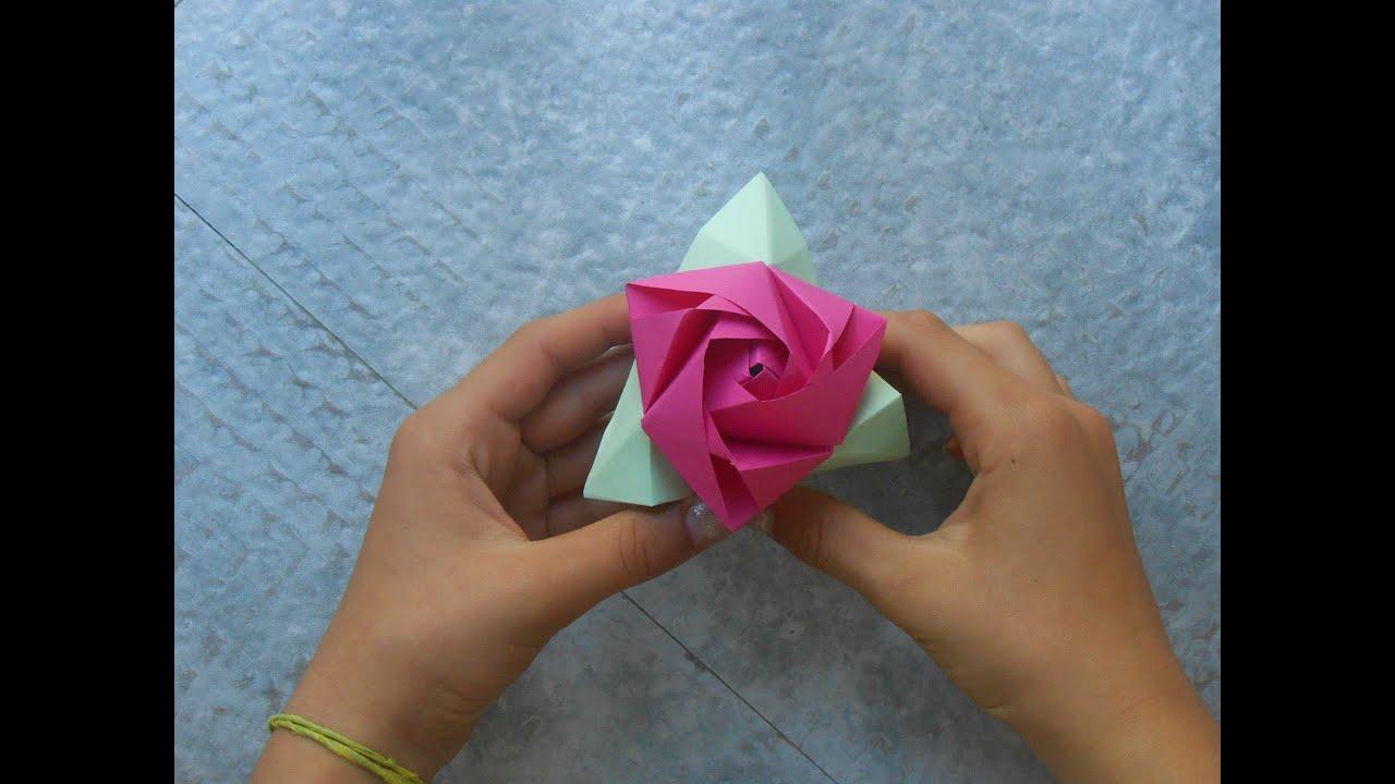 Bien connu TUTO]Rose qui se transforme en cube - YouTube KB46