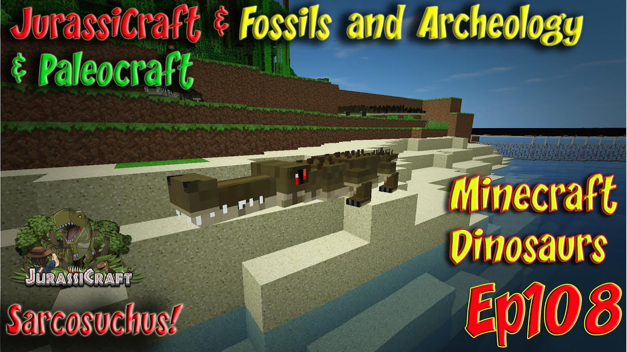 Jurassicraft & Fossils and Archeology Jurassic World Ep108 Sarcosuchus by  Smithy MC