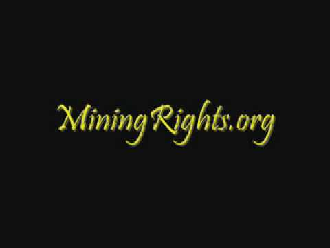 Hal Anthony on Granted Mining Rights