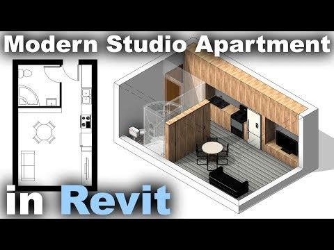 Modern Studio Apartment in Revit Tutorial