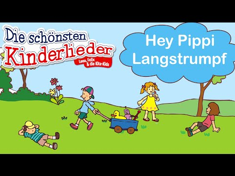 Hey Pippi Langstrumpf | Kinderlied mit Text zum mitsingen