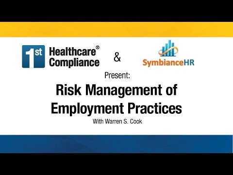 Risk Management of Employment Practices