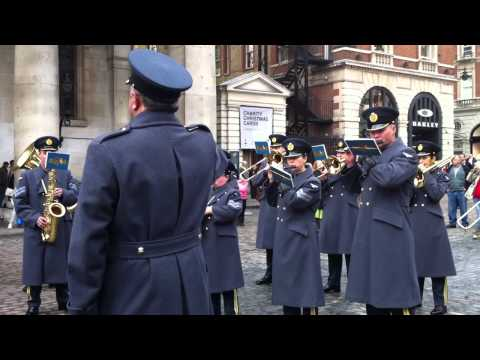 Central Band of the RAF  633 Squadron Covent Garden, Nov 2011