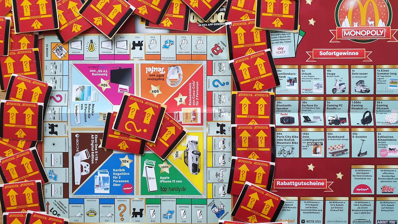 mc donalds monopoly gewinne