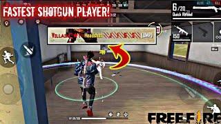 Free Fire Fastest Player On Phone /Best Insane Headshots/Villain Gaming