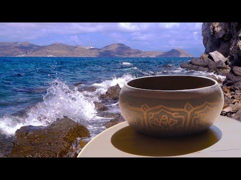 Tibetan Bowls + Ocean Waves | Music for Sleep, Studying, Meditation | White Noise 10 Hours