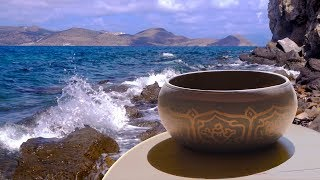 Tibetan Bowls + Ocean Waves | Music for Sleep, Studying, Meditation | White Noise 10 Hours