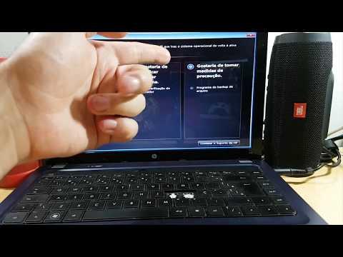 Recuperando notebook HP da TELA AZUL ou TELA PRETA, com alguns cliques.