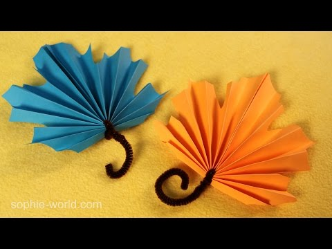 How to Make Fan Folded Paper Leaves | Sophie's World