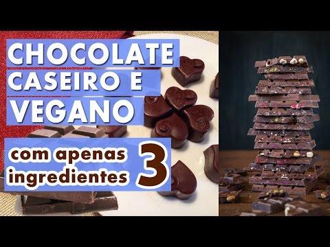 Como Fazer Chocolate Caseiro Fácil Sem Lactose e Vegano || Apenas 3 Ingredientes