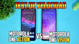 Motorola One Action Vs Motorola One Vision | Test de Velocidad  | Tecnocat