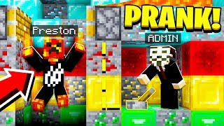 MINECRAFT ADMIN PRANK On My Server! (Admin Troll)