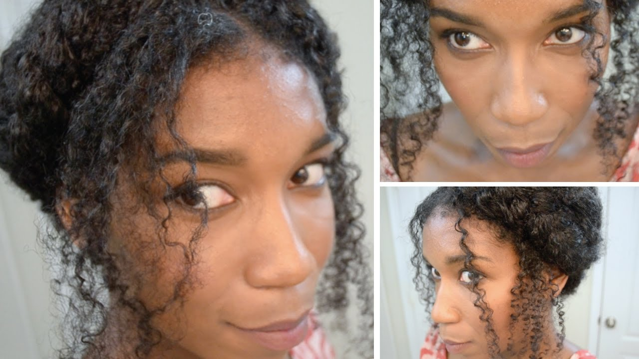 The Crown Braid on Thick Curly Hair | Natural Hair - YouTube
