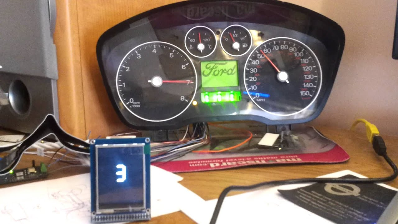 Gear Indicator Using Arduino Tft Module Youtube