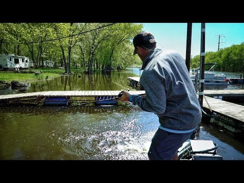 Fishing With The Bass JEDI - Very Impressed! River Bass Fishing