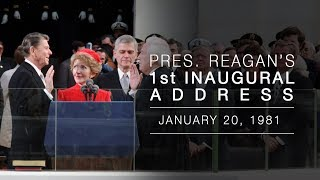 1st Inaugural Address: President Reagans Inaugural Address  1/20/81