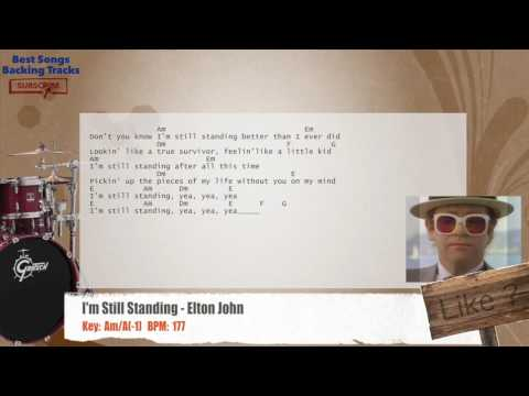 I'm Still Standing - Elton John Drums Backing Track with chords and lyrics