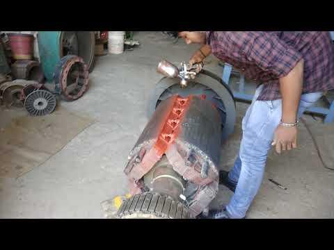 Overhauling of 1000 kVA Stamford alternator