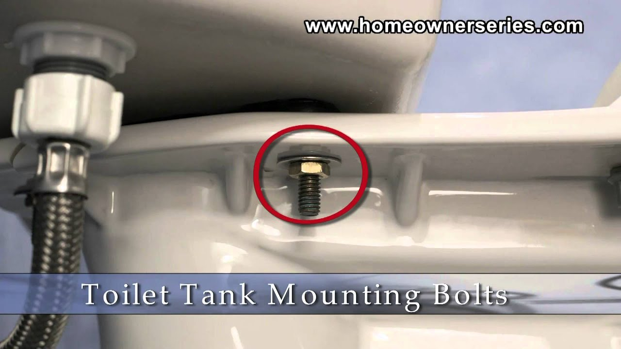 replacing toilet tank parts.  How to Fix a Toilet Parts Tank Mounting Bolts YouTube