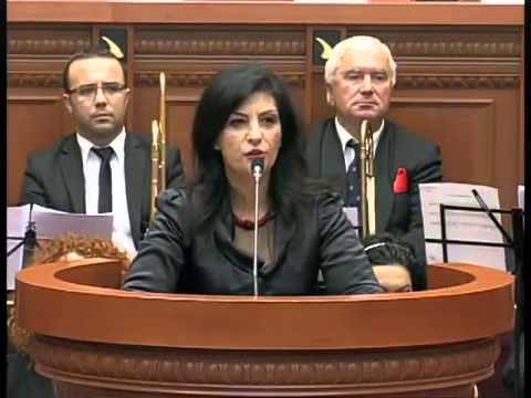 President Jozefina Coba Topalli during the Parliament Ceremony for the 100 years anniversary