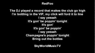RedFoo (of LMFAO) - Bring out the bottles lyrics
