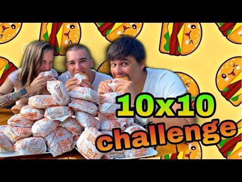 10 БУРГЕРОВ ЗА 10 МИНУТ! CHALLENGE! ВСЯ СЕМЬЯ ЧУТЬ не ЛОПНУЛА! от Beaver Family Land