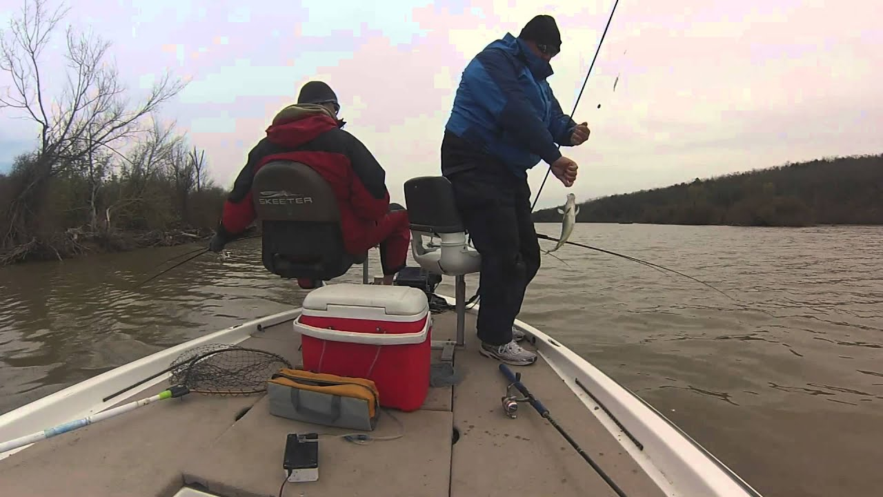 Eufaula lake ok april 5 2014 spider rigging for pre for Spider rigs for crappie fishing