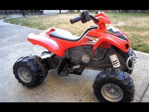 Power Wheels Kawasaki KFX with Monster Traction by Fisher Price - YouTube