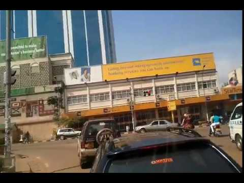 Uganda-Entebbe to Kampala -last leg drive from Katwe into Sheraton