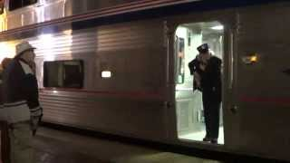 Amtrak #4 Southwest Chief departing Fullerton station with marty ann 2015-01-10