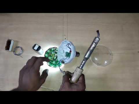 China emergency light repair How to Ac Dc light battery repair