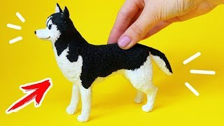 🌟 СОБАКА ХАСКИ для КУКОЛ 💖 Фигурка DIY !!! 😍 Питомцы для кукол из FIMO Мастер класс Анна Оськина
