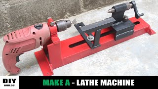 How To Make A Lathe Machine | Homemade Woodworking Lathe Machine | DIY