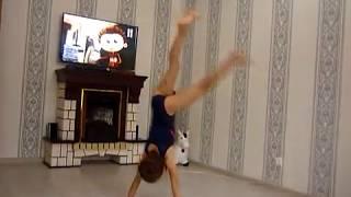 Спортивная гимнастика от Кати №4. Спичаг. Стойка на руках.